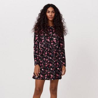 Cropp - Sukienka w kwiaty - Różowy