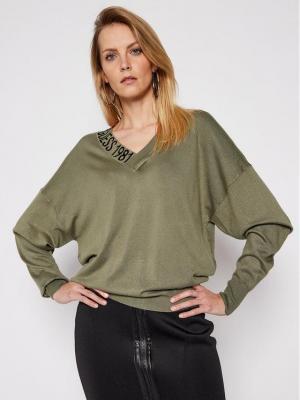 Guess Sweter Dalia W1RR04 Z2NQ0 Zielony Regular Fit