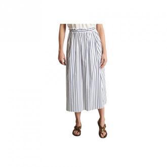 Chloé Stora Jura Striped Midi Skirt Spódnice Niebieski Dorośli Kobiety