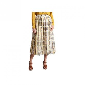 Chloé Stora Juice Printed Midi Skirt Spódnice Żółty Dorośli Kobiety