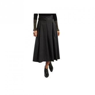 Tara Jarmon Belted Midi Dress Spódnice Szary Dorośli Kobiety Rozmiar: