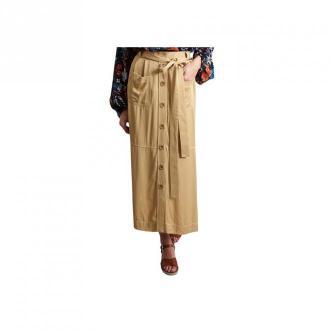 See by Chloé Gabardine Midi Skirt Spódnice Beżowy Dorośli Kobiety