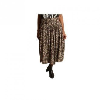 swildens Floral Printed Midi Skirt Spódnice Zielony Dorośli Kobiety