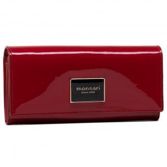 Duży Portfel Damski MONNARI - PUR0270-005 Czerwony Lakier