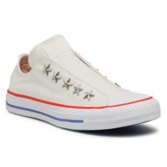 Trampki CONVERSE - Ctas Teen Slip 564971C Vintage White/Habanero Red
