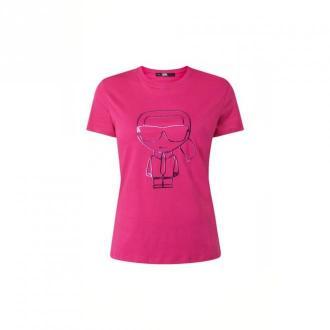 Karl Lagerfeld T-Shirt Koszulki i topy Różowy Dorośli Kobiety Rozmiar: