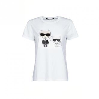 Karl Lagerfeld T-Shirt Koszulki i topy Biały Dorośli Kobiety Rozmiar: