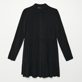 Cropp - Koszulowa sukienka - Czarny