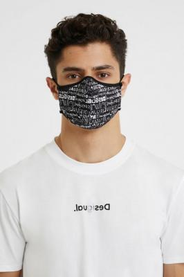 Desigual czarna maseczka Mask Desigual