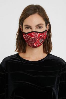 Desigual maseczka dwustronna Mask Flores Funda