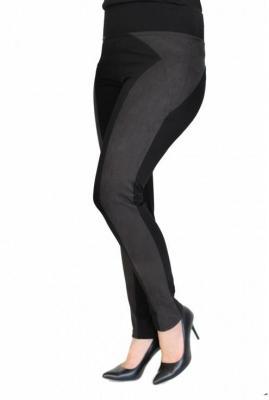 Uniwersalne czarne legginsy z pasem z zamszu patty xxxl (48-50)