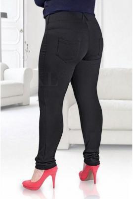 Czarne legginsy ocieplane amelia 4xl (52-54)