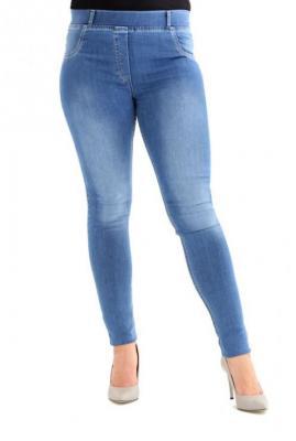 Jasne spodnie jeansowe na gumkę justine 6xl (54)