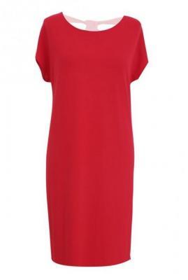 Prosta czerwona sukienka z kokardą izabela 3xl (48/50)
