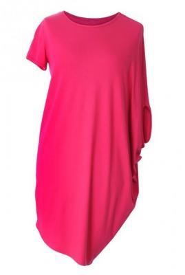 Różowa tunika / sukienka asymetryczna jenifer 50/52