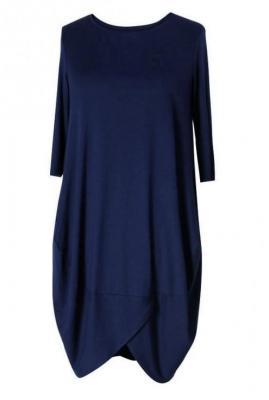 Granatowa sukienka z wiskozy - lucy 2xl (48-50)