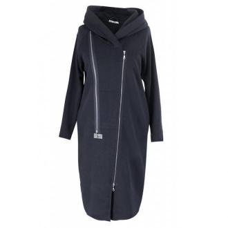 Czarny płaszczyk dresowy plus size arja 54-56 (4xl)