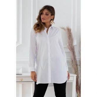 Długa biała koszula-tunika - sheila 50