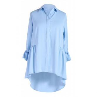 Jasno niebieska koszula damska annabel - rękaw 3/4 40