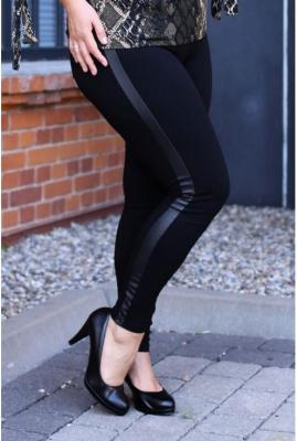Polskie czarne legginsy z wysmuklającym paskiem – wysoki stan alice 5xl (54)