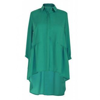 Zielona długa koszula damska annabel - rękaw 3/4 50