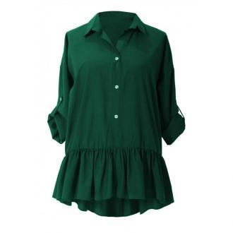 Zielona bluzka / koszula z falbanką sabrina 48/50
