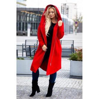 Czerwony płaszczyk dresowy plus size arja 52-54 (3xl)