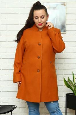 Płaszcz klasyczny z kieszeniami KINGA miodowy