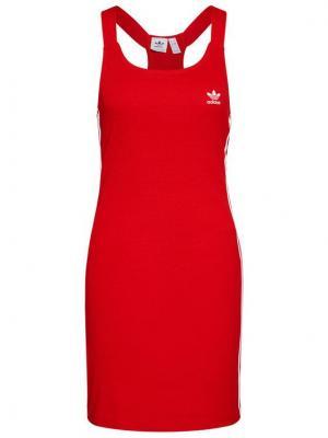 adidas Sukienka codzienna Racer B GN2879 Czerwony Slim Fit