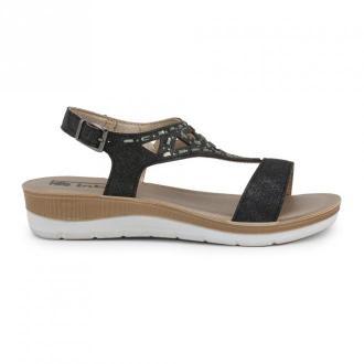 Inblu Flat sandals Bv000016 Obuwie Czarny Dorośli Kobiety Rozmiar: 37