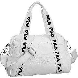 Biała torba Fila z logowanym paskiem
