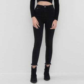 House - Jeansy skinny fit z wysokim stanem - Czarny