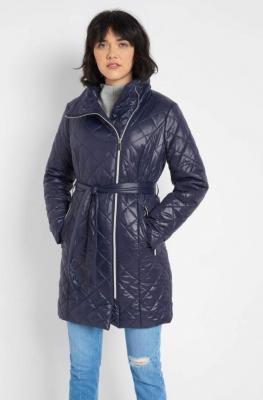 Pikowana kurtka z paskiem