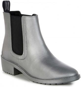 Emu Australia srebrne buty plastikowe do kostek Ellin Rainboot Silver - 37