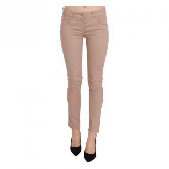 Cristinaeffe Skinny Cotton Pants Spodnie Brązowy Dorośli Kobiety