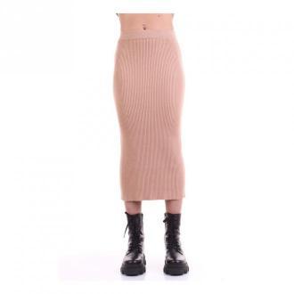 ViCOLO 7225W Midi Skirt Spódnice Beżowy Dorośli Kobiety Rozmiar: