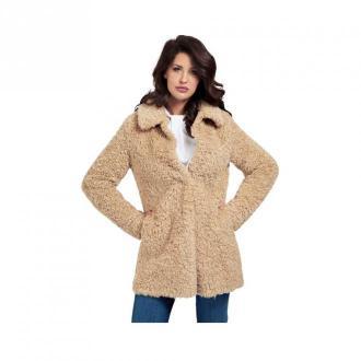 Guess Faux Fur Jacket W0Bl0L Kurtki Beżowy Dorośli Kobiety Rozmiar: S