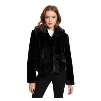 Guess Jacket With Fur W0Bl0N Kurtki Czarny Dorośli Kobiety Rozmiar: XS