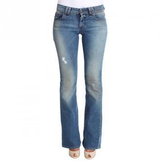 Galliano Flare Bootcut Jeans Jeansy Niebieski Dorośli Kobiety Rozmiar:
