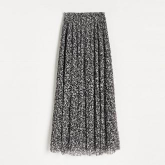 Reserved - Wzorzysta spódnica midi - Wielobarwny