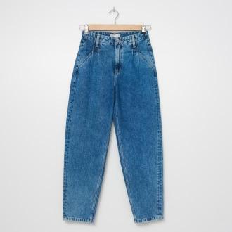 House - Mom jeans z efektem sprania - Niebieski