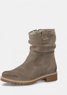 Tamaris beżowy botki zamszowe buty - 40
