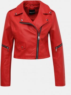 Tally Weijl czerwona krótka kurtka ze skajki - XL