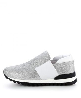 Srebrne damskie buty typu sneakers MADRISIO