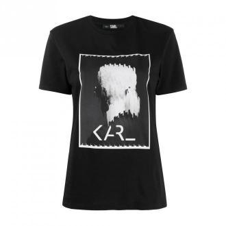 Karl Lagerfeld T-Shirt Koszulki i topy Czarny Dorośli Kobiety Rozmiar: