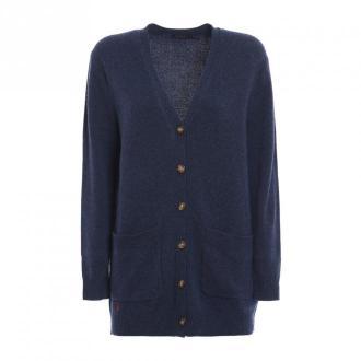 Ralph Lauren Long Cardigan 2 Pockets Swetry i bluzy Niebieski Dorośli