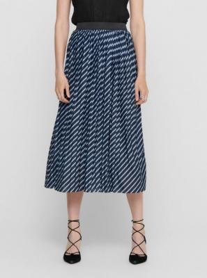 Jacqueline de Yong niebieska damska wzorzysta spódnica midi - XS 7100029051021