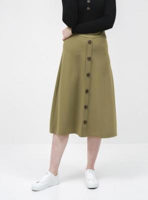 Jacqueline de Yong khaki spódnica midi Bellis - XS 7100026131788