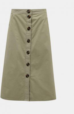 Jacqueline de Yong khaki midi spódnica damska - XS 7100027221358