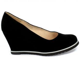 Czółenka Euro Moda Lib 9120 135 Czarny Skóra
